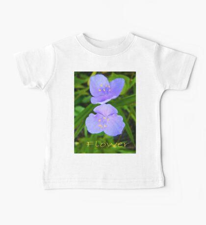 Blue Flowers Baby Tee