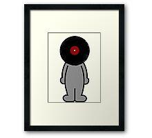 Vinylized!!! Vinyl Records DJ Retro Music Man T-Shirt Stickers Prints Framed Print