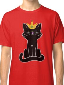 Black Cat Princess with Gold Crown Classic T-Shirt