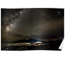 Queenstown at Night Poster