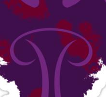 Frantonio (on purple with red) Sticker