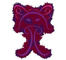 Frantonio (on red with Purple) Photographic Print