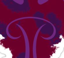 Frantonio (on red with Purple) Sticker