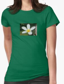 A Single Plumeria Flower Macro Womens Fitted T-Shirt