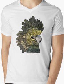 Black Cockatoo Mens V-Neck T-Shirt