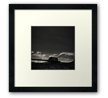 Old pier Framed Print