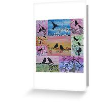 collage of sakura and more Greeting Card