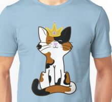 Calico Cat Princess with Gold Crown Unisex T-Shirt