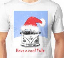 VW Camper Cool Yule Blue Pale Unisex T-Shirt