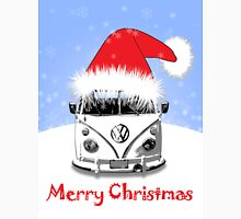 VW Camper Merry Christmas Blue Unisex T-Shirt