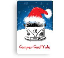 VW Camper Camper Cool Yule Christmas Canvas Print