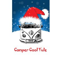 VW Camper Camper Cool Yule Christmas Photographic Print