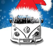 VW Camper Cool Yule Card by splashgti