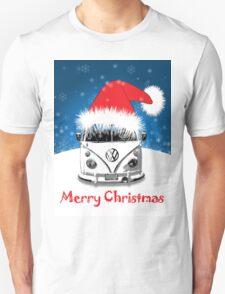 VW Camper Merry Christmas Card Unisex T-Shirt