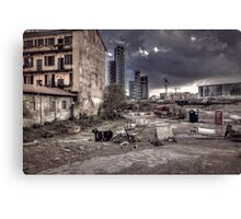 Grunge cityscape Canvas Print