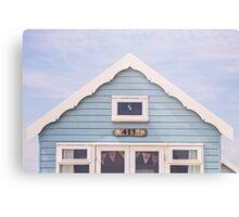 Beach hut in blue Metal Print