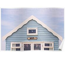 Beach hut in blue Poster