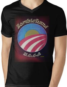 ZombieLand USSA - The Bloom is Off the Rose Mens V-Neck T-Shirt