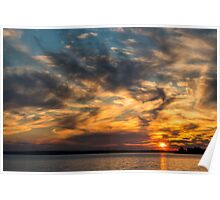 Sky at sunset Poster