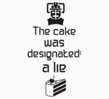 The cake is a lie (Light background) T-Shirt