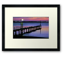 Sunset at Lake King, Metung Framed Print