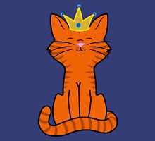 Orange Cat Princess with Gold Crown Unisex T-Shirt