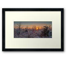 Frozen Sunset Framed Print