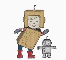 Cardboard Kid Robot (Little Stars Collection) Baby Tee