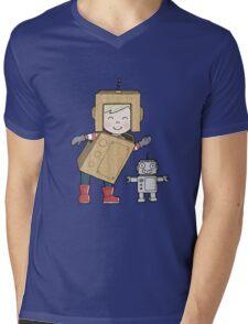 Cardboard Kid Robot (Little Stars Collection) Mens V-Neck T-Shirt