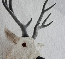 Winter Deer  - JUSTART ©  by JUSTART