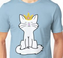 White Cat Princess with Gold Crown Unisex T-Shirt