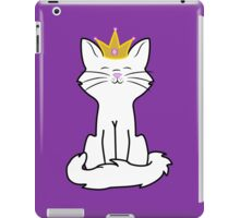 White Cat Princess with Gold Crown iPad Case/Skin