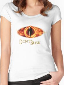 Sauron, don't blink Women's Fitted Scoop T-Shirt