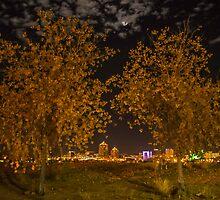 Downtown Albuquerque at Night by IOBurque
