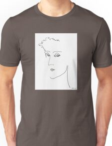 Abstract sketch of face IV Unisex T-Shirt