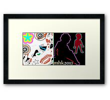 killin time with a hacksaw and a needle and thread or pull your pants up this ain't no party Framed Print