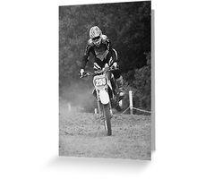 Dirt bike landing nose down Greeting Card