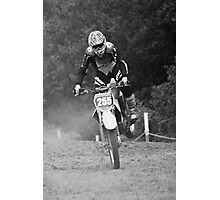 Dirt bike landing nose down Photographic Print