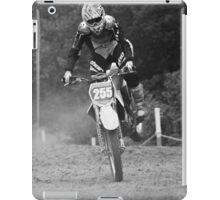 Dirt bike landing nose down iPad Case/Skin