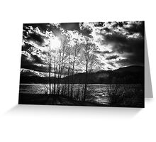 Black and white dramatic contrast landscape fine art wall art - Freddo Greeting Card