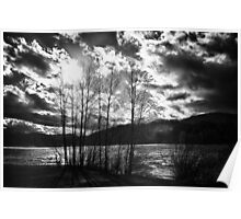 Black and white dramatic contrast landscape fine art wall art - Freddo Poster