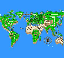 Super Mario World x World Map by Gkauf7