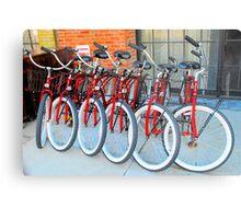 Red Bicycles Metal Print