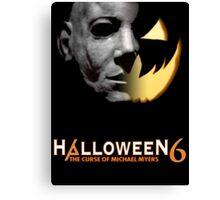 Halloween 6 Michael Myers/Pumpkin Shirt Canvas Print