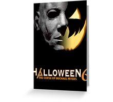 Halloween 6 Michael Myers/Pumpkin Shirt Greeting Card