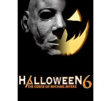 Halloween 6 Michael Myers/Pumpkin Shirt Photographic Print