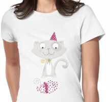 Cute Creatures (Kitty) Womens Fitted T-Shirt
