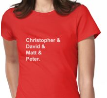 Doctor's Actors, First Names - White Womens Fitted T-Shirt