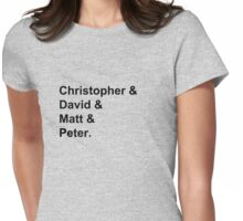 Doctor's Actors, First Names - Black Womens Fitted T-Shirt