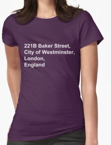 221B Baker Street Womens Fitted T-Shirt